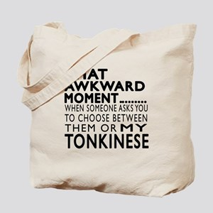 Awkward Tonkinese Cat Designs Tote Bag
