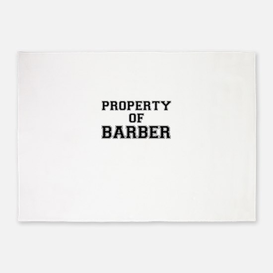 Property of BARBER 5'x7'Area Rug