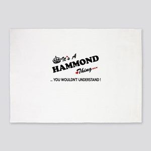 HAMMOND thing, you wouldn't underst 5'x7'Area Rug