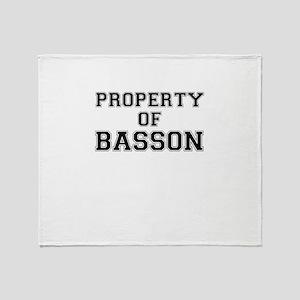 Property of BASSON Throw Blanket