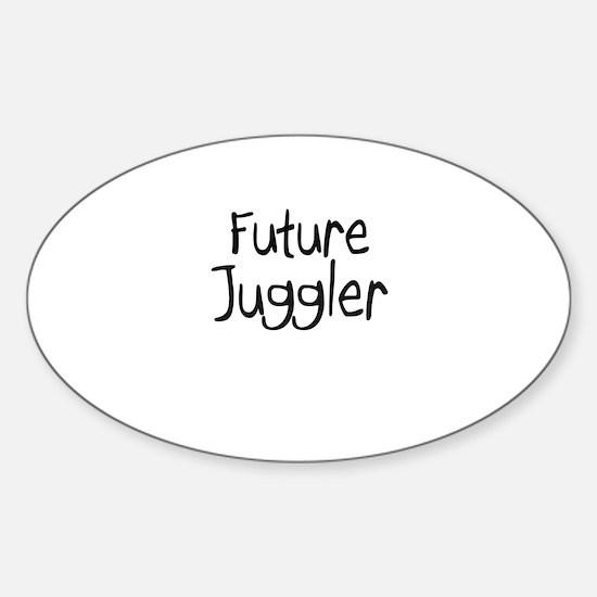 Future Juggler Oval Decal