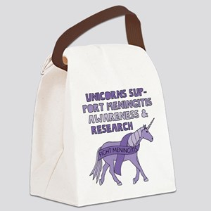 Unicorns Support Meningitis Aware Canvas Lunch Bag