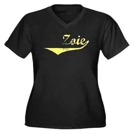 Zoie Vintage (Gold) Women's Plus Size V-Neck Dark
