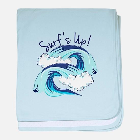 Surfs Up baby blanket