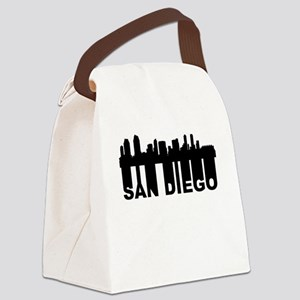 Roots Of San Diego CA Skyline Canvas Lunch Bag