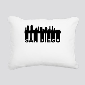 Roots Of San Diego CA Skyline Rectangular Canvas P