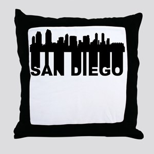 Roots Of San Diego CA Skyline Throw Pillow