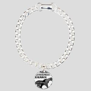 Unicorns Support Melanom Charm Bracelet, One Charm