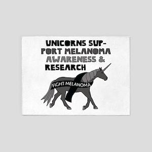 Unicorns Support Melanoma Awareness 5'x7'Area Rug