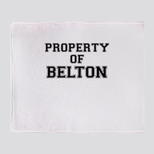Property of BELTON Throw Blanket