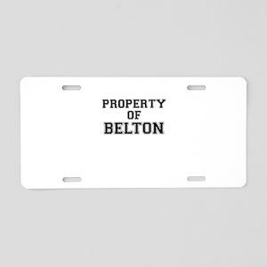Property of BELTON Aluminum License Plate