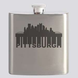 Roots Of Pittsburgh PA Skyline Flask