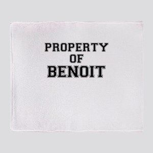 Property of BENOIT Throw Blanket