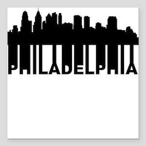 Roots Of Philadelphia PA Skyline Square Car Magnet