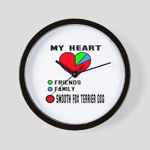 My Heart, Friends, Family, Smooth Fox T Wall Clock