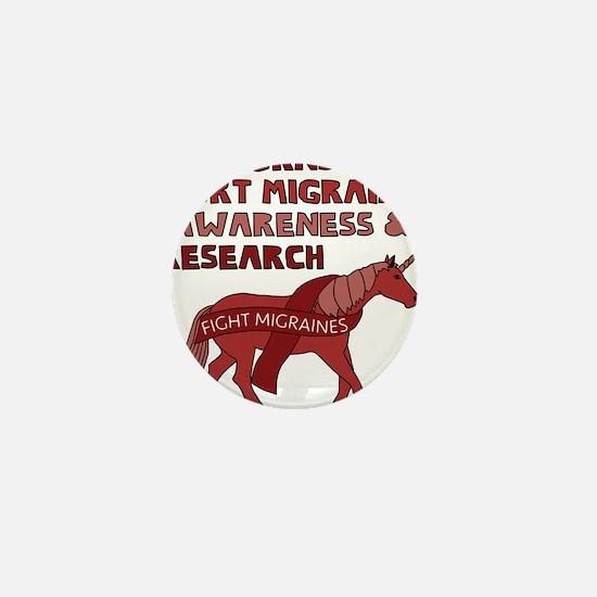 Unicorns Support Migraine Awareness Mini Button
