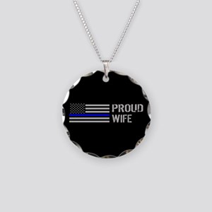 Police: Proud Wife Necklace Circle Charm