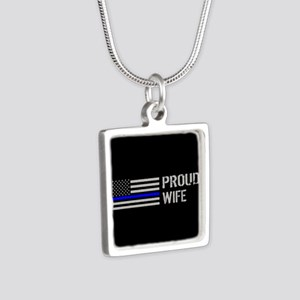 Police: Proud Wife Silver Square Necklace