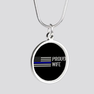 Police: Proud Wife Silver Round Necklace