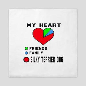 My Heart, Friends, Family, Silky Terri Queen Duvet