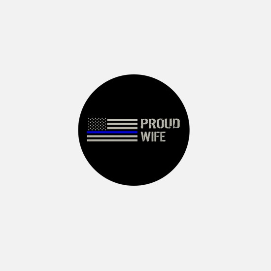 Police: Proud Wife Mini Button