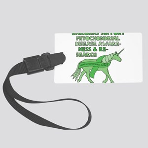 Unicorns Support Mitochondrial D Large Luggage Tag