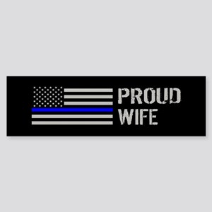 Police: Proud Wife Sticker (Bumper)