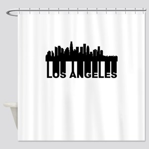 Roots Of Los Angeles CA Skyline Shower Curtain