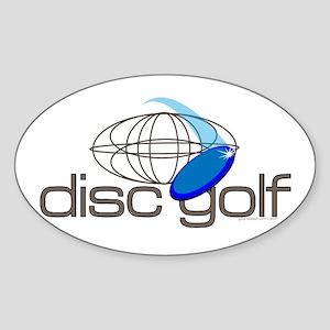 Disc Golf 3 Oval Sticker