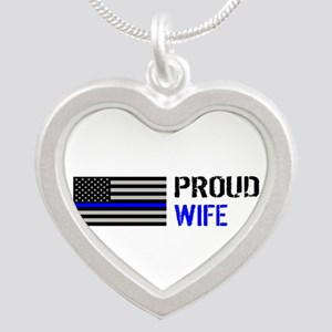Police: Proud Wife Silver Heart Necklace