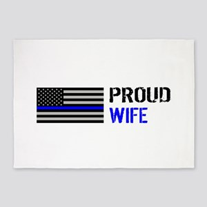 Police: Proud Wife 5'x7'Area Rug