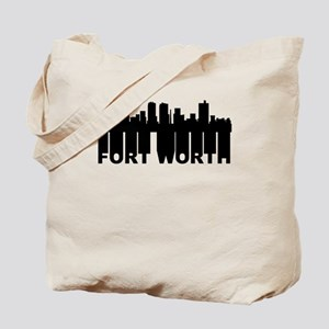 Roots Of Fort Worth TX Skyline Tote Bag