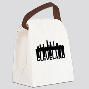 Roots Of Cleveland OH Skyline Canvas Lunch Bag