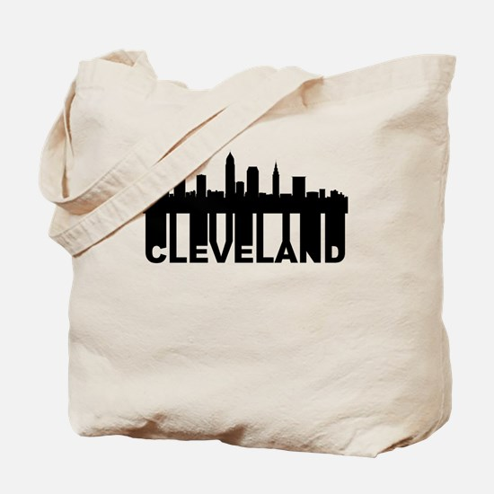 Roots Of Cleveland OH Skyline Tote Bag