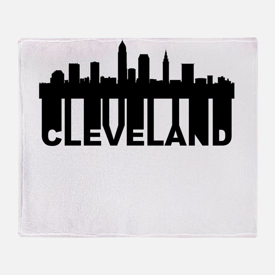 Roots Of Cleveland OH Skyline Throw Blanket
