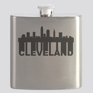 Roots Of Cleveland OH Skyline Flask