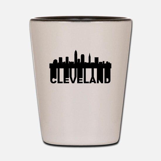 Roots Of Cleveland OH Skyline Shot Glass