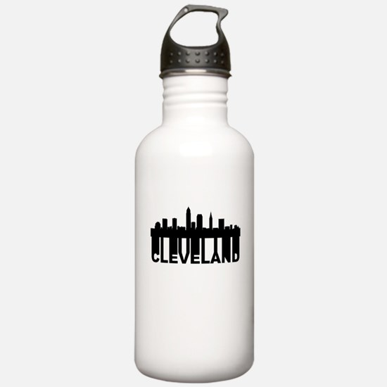 Roots Of Cleveland OH Skyline Water Bottle