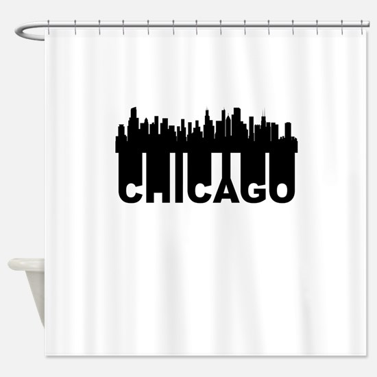 Roots Of Chicago IL Skyline Shower Curtain
