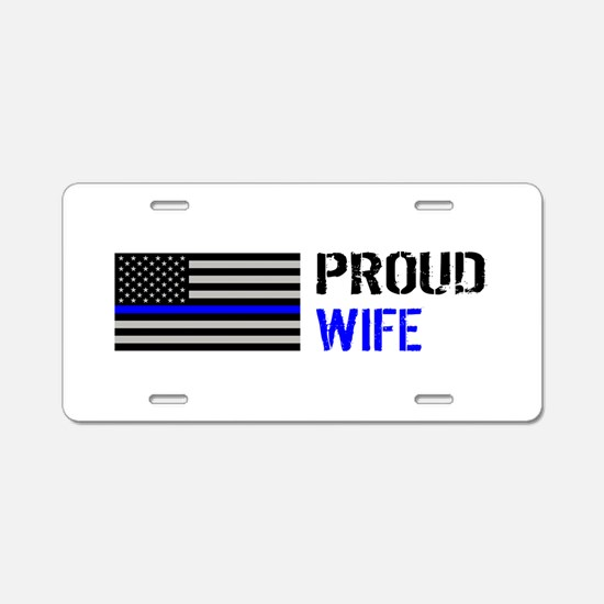 Police: Proud Wife Aluminum License Plate