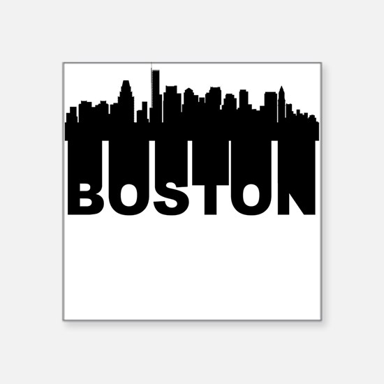 Roots Of Boston MA Skyline Sticker
