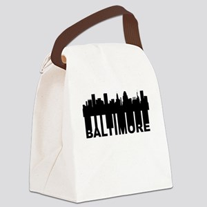 Roots Of Baltimore MD Skyline Canvas Lunch Bag