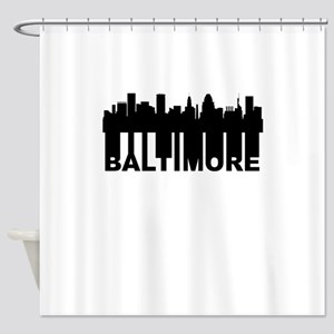 Roots Of Baltimore MD Skyline Shower Curtain