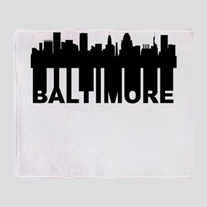 Roots Of Baltimore MD Skyline Throw Blanket
