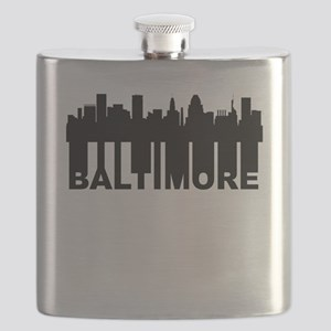 Roots Of Baltimore MD Skyline Flask