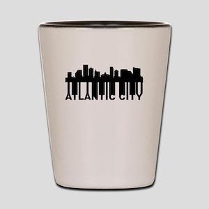 Roots Of Atlantic City NJ Skyline Shot Glass