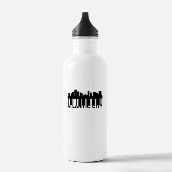 Roots Of Atlantic City NJ Skyline Water Bottle