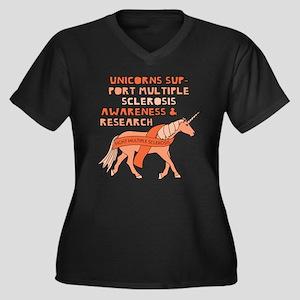 Unicorns Support Multiple Sclero Plus Size T-Shirt
