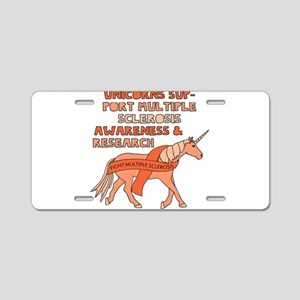 Unicorns Support Multiple S Aluminum License Plate