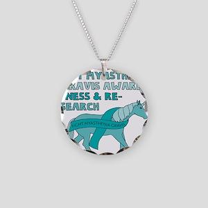 Unicorns Support Myasthenia Necklace Circle Charm